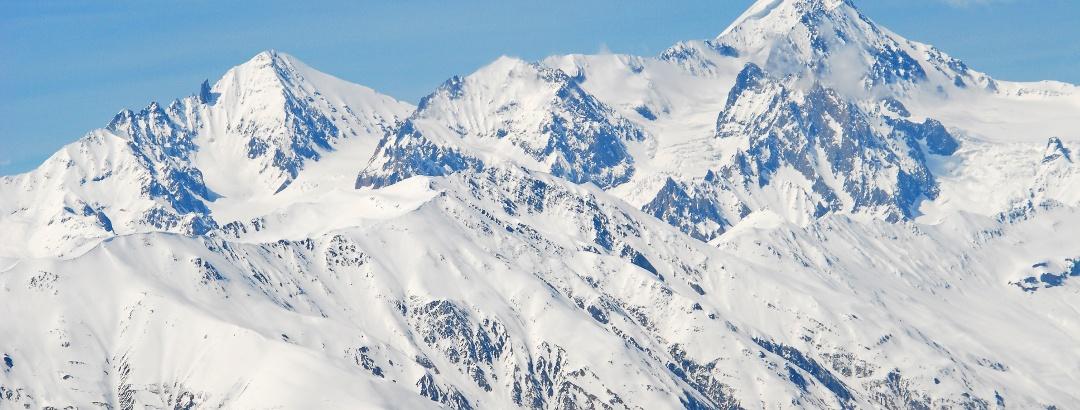 Der Kazbek vom Bidara aus gesehen