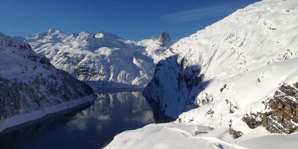 Zerfreilasee im Winter; Foto: Fritz Tönz