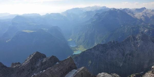 Watzmannkinder und Königsee - nur einer von tausend Eindrücken oben am Hocheckgipfel