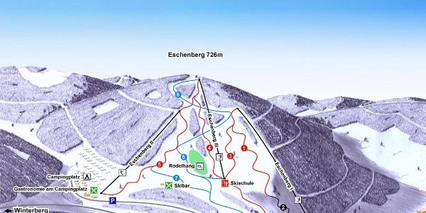 Pistenplan Eschenberg