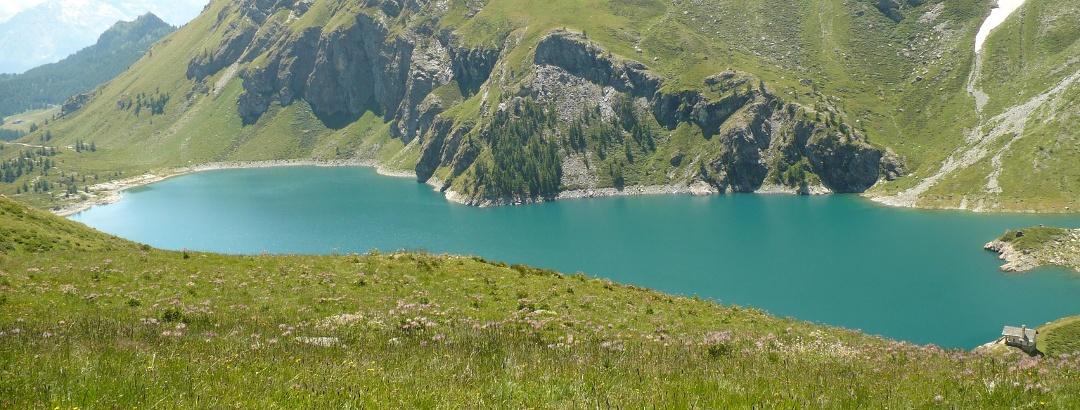 Blick auf den Lago di Cignana