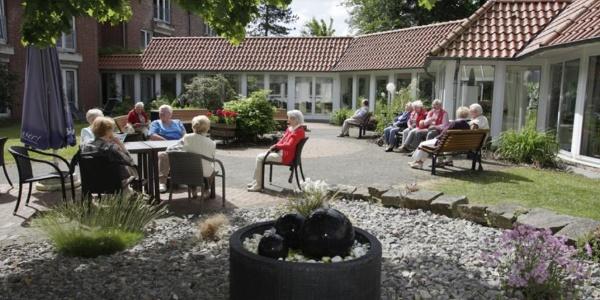 Hotel Erika Stratmann: Innenhof