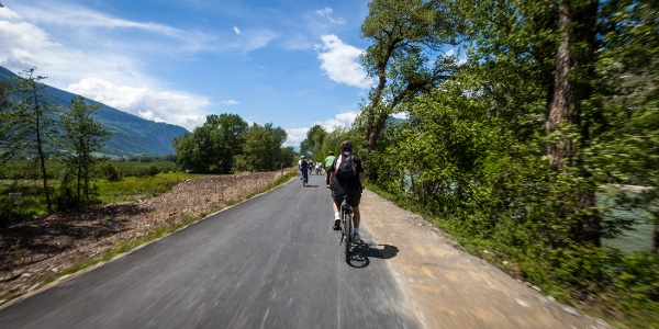 Rhone Route bei Sion