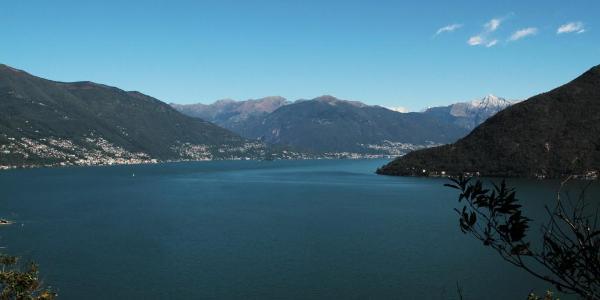 The Lago Maggiore and Ascona/Locarno in the background