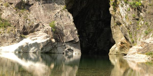 Schluchtausgang unterhalb Sant' Anna