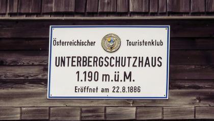 Unterberg-Schutzhaus, eröffnet im Jahr 1886, Österreichischer Touristenklub (ÖTK)