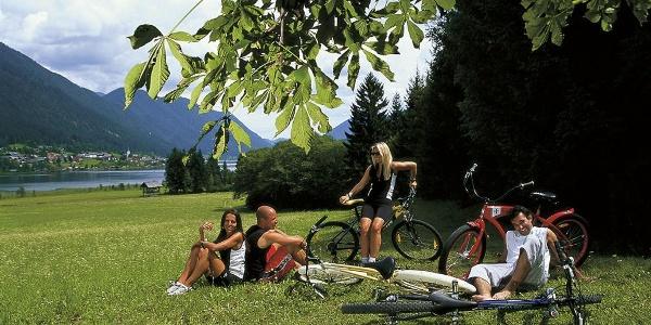 Mountainbiken am See