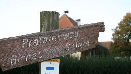 altes Hinweisschild Prälatenweg