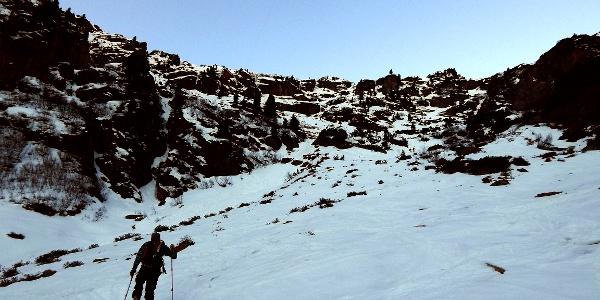 Die (oftmals lästige) Steilstufe hinauf zur Sulzenauhütte