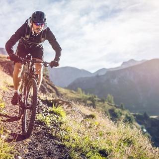 Mountainbiker in Crans-Montana