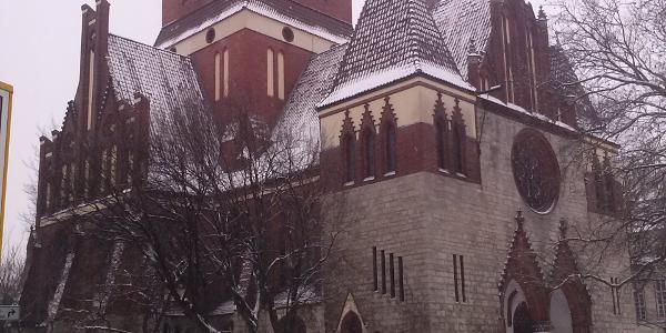 """Die """"Lankwitz Kirche"""" oder Dreifaltigkeitskirche, das Wahrzeichen Lankwitz's"""