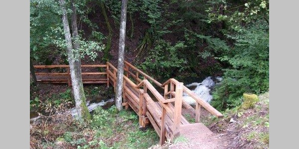 Holzbrücke über den Altbach