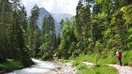 Reintalangerhütte - Zustieg entlang der Partnach