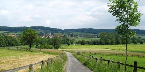 Blick auf Alhausen