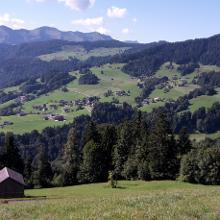 Bergvorsäß oberhalb von Schwarzenberg