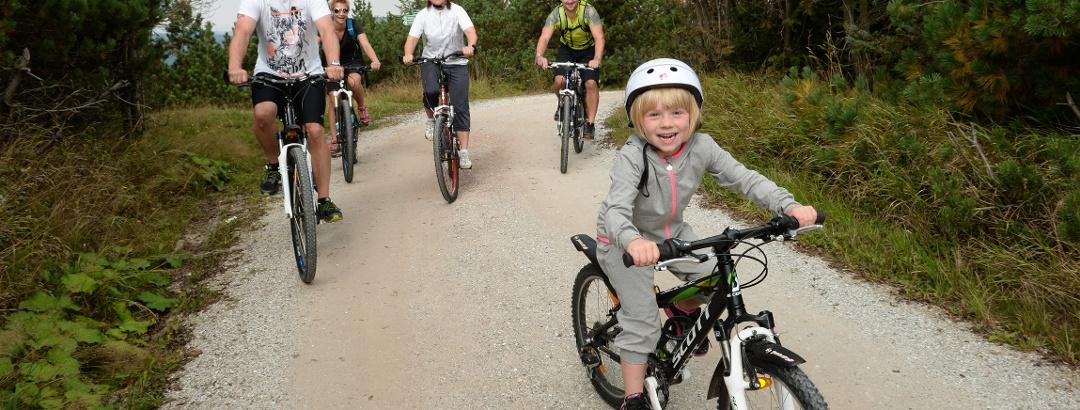Fahrradfahrer am Kahleberg