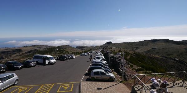 Der Parkplatz am Pico Arieiro