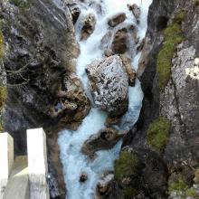 Schlucht beim Wasserfall