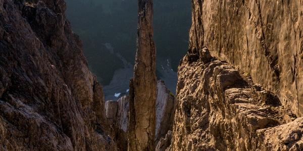 Die berühmte Gipfelstürmernadel vom Weg zur Erlspitze aus gesehen (Variante)