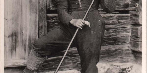 """""""Mutter Radacher"""", eine von Kraft und Größe strotzende Frau aus einer Familiendynastie, war erste Pächterin der Gipfelhütte"""