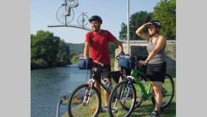 Radfahrer am Trethenner in Wanfried
