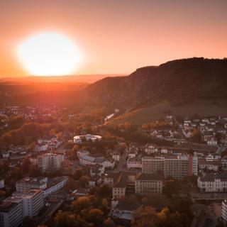Bad Münster am Stein von der Rheingrafenstein