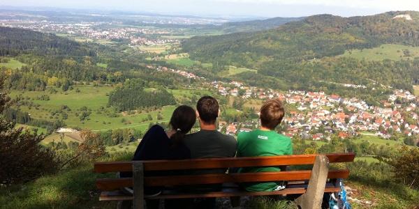 Blick vom Gräbelesberg ins Tal