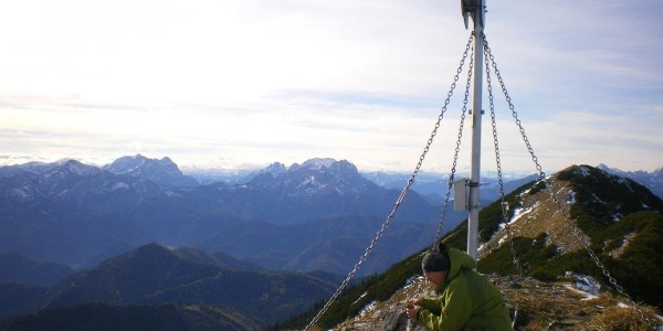Blick vom Gamsstein-Gipfel