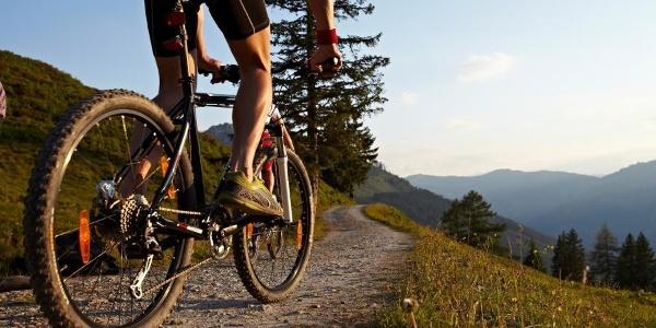 Mountainbike Auffahrt