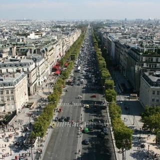 Die Prachtstraße Champs-Élysées