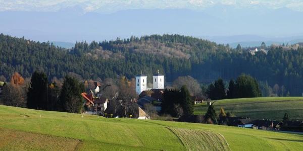 Blick zur St. Zeno Kirche Herrischried