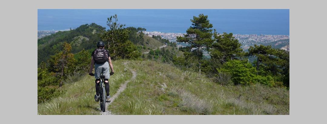 Mountainbiken an der Riviera delle Palme