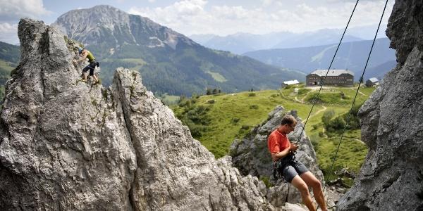 Salzburgs größter Klettergarten mit Hofpürglhütte
