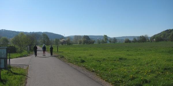 Auf dem Werratal-Radweg Richtung Meiningen