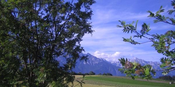 Schöne Ausblicke auf das Karwendel
