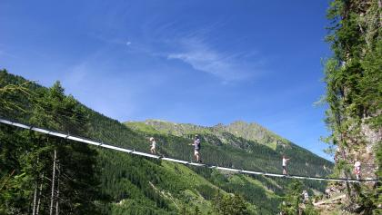 "50 m steel rope bridge spanning the ""Höll"" gorge"