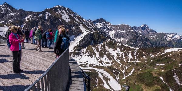 Panorama von der Kanzelwandbahn-Bergstation