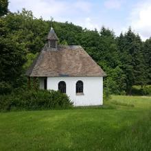 Kapelle in der Nähe des Wanderparkplatzes