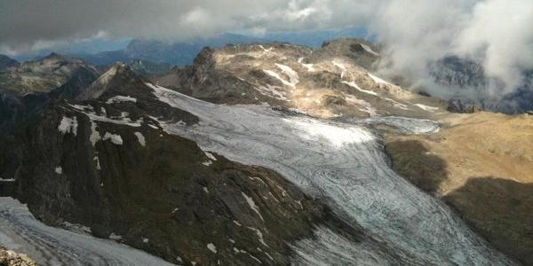 Der Brandner Gletscher vom Gipfel der Schesaplana aus gesehen