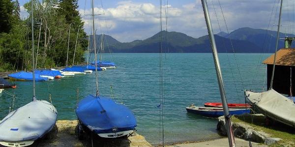 Bootsanleger am Walchensee.