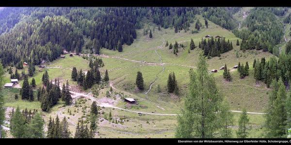 Ebenalmen von der Wirtsbaueralm, Höhenweg zur Elberfelder Hütte