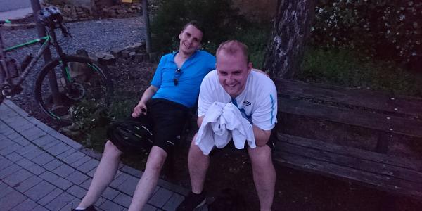Marco (2. Fahrt) und Stefan (1. Fahrt mit uns)