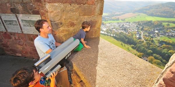 Blick von der Burg Nideggen ins Rurtal