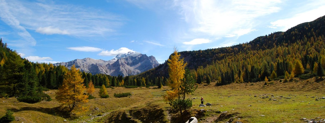 Wandern ohne Gepäck im Alpenraum