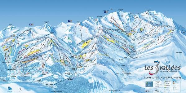 Pistenplan von Les Trois Vallées