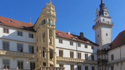 Schlosshof Schloss Hartenfels Torgau