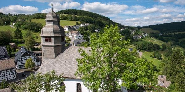 Blick auf Nordenau von der Burgruine Rappelstein
