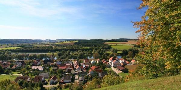 Blick von den Oberndorfer Hängen in Bad Abbach