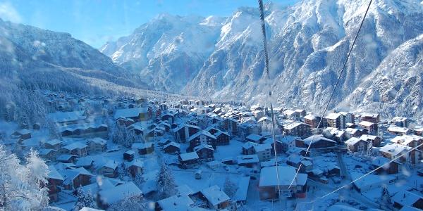 Hannigalp Talstation Winter