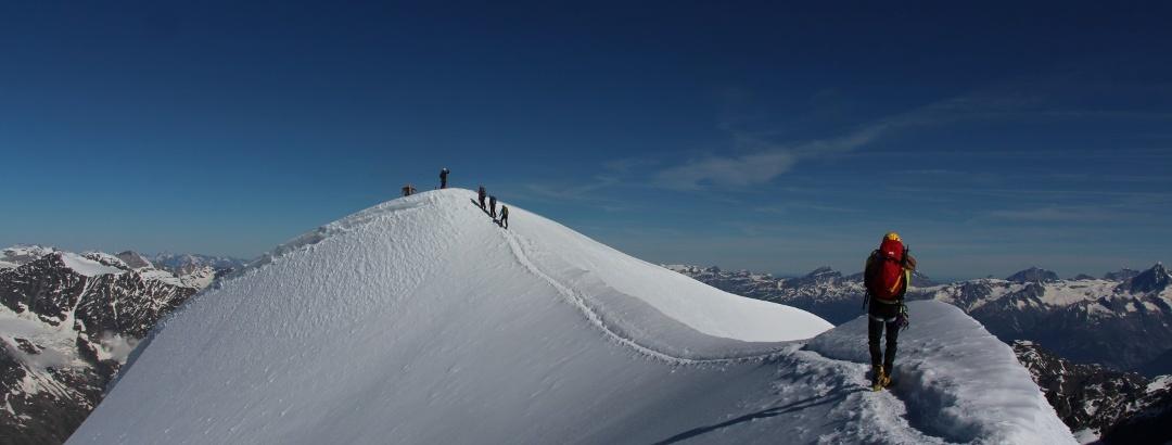 Am Grat zum Gipfel